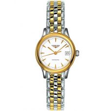 Longines Ladies Flagship White Dial Two Colour Bracelet Watch L42743227