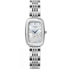 Longines Ladies Equestrian Diamond Set Mother Of Pearl Dial Bracelet Watch L61414876