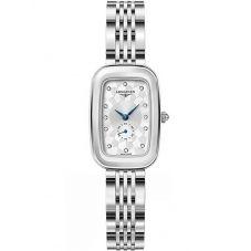 Longines Ladies Equestrian Diamond Set Silver Dial Bracelet Watch L61414776