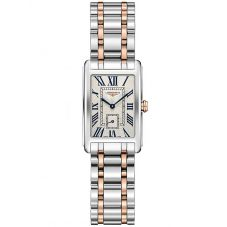 Longines Ladies DolceVita Silver Dial Two Colour Bracelet Watch L52555717