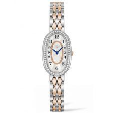 Longines Ladies Symphonette Diamond Set Mother Of Pearl Dial Two Colour Bracelet Watch L23055887