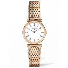 Longines Ladies La Grande Classique White Dial Rose Gold Bracelet Watch L42091918