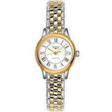 Longines Ladies Flagship White Dial Two Colour Bracelet Watch L42743217