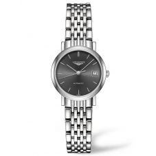 Longines Ladies Elegant Sunray Grey Dial Bracelet Watch L43094726