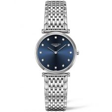 Longines Ladies La Grande Classique Diamond Set Blue Dial Bracelet Watch L45124976