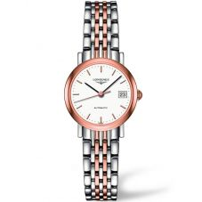 Longines Ladies Elegant White Dial Two Colour Bracelet Watch L43095127