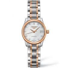Longines Ladies Master Diamond Set Mother of Pearl Dial Two Colour Bracelet Watch L21285897