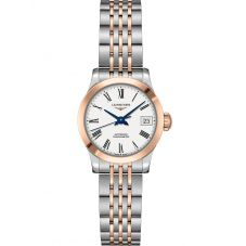 Longines Ladies Record White Dial Two Colour Bracelet Watch L23205117