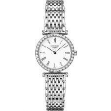 Longines Ladies La Grande Classique Diamond Set White Dial Bracelet Watch L43410116