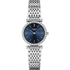 Longines Ladies La Grande Classique Diamond Set Blue Dial Bracelet Watch L43410956