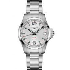 Longines Conquest V.H.P. Silver Dial Bracelet Watch L33164766