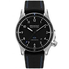 Bremont BOEING MODEL 1 Stainless Steel Black Dial Strap Watch BB1-SS/BK