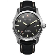 Bremont SOLO Cream on Black Dial Strap Watch SOLO/CR