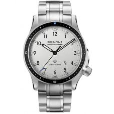 Bremont BOEING MODEL 1 Stainless Steel White Dial Bracelet Watch BB1-SS/WH/BR
