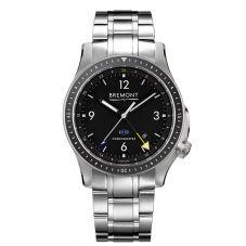 Bremont BOEING MODEL 1 Titanium Black Dial Bracelet Watch BB1-TI-GMT/BK/BR