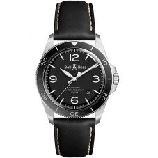 Bell & Ross Mens Vintage Black Steel Automatic Watch BRV292-BL-ST/SCA