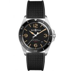 Bell & Ross Mens Vintage Steel Heritage Watch BRV292-HER-ST/SRB