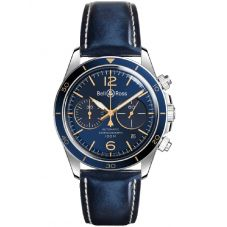 Bell & Ross Mens Vintage Aeronavale Blue Watch BRV294-BU-G-ST/SCA