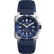 Bell & Ross Instruments Diver Blue Rubber Strap Watch BR0392-D-BU-ST/SRB