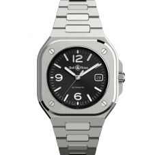 Bell & Ross Mens BR05 Automatic Black Dial Stainless Steel Bracelet Watch BR05A-BL-ST/SST