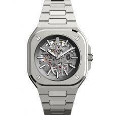 Bell & Ross Mens BR05 Automatic Grey Skeleton Dial Stainless Steel Bracelet Watch BR05A-GR-SK-ST/SST