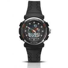 Sekonda Ladies Dual Display Black Plastic Strap Watch 2423