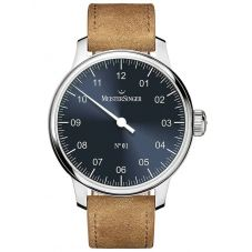 MeisterSinger Mens No. 01 Automatic Leather Strap Watch DM317