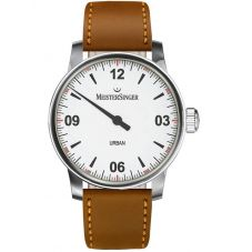 MeisterSinger Mens Urban Automatic Leather Strap Watch UR901
