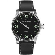 MeisterSinger Mens Urban Automatic Leather Strap Watch UR902