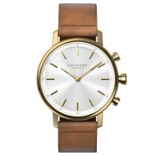 Kronaby Carat Bluetooth Brown Strap Smartwatch A1000-0717