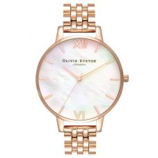 Olivia Burton Mother Of Pearl Rose Gold Plated Bracelet Watch OB16MOP03
