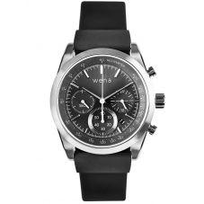 Wena Solar Chronograph Active Grey Dial Black Rubber Strap Watch Bundle 25-17-002 + 29-57-001