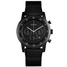 Wena Chronograph Pro Black Dial Black Stainless Steel Bracelet Watch Bundle 25-17-008 + 29-57-002