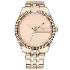 Tommy Hilfiger Lee Rose Gold Plated Plain Rose Dial Bracelet Watch 1782082