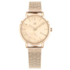 Tommy Hilfiger Lily Rose Gold Plated Mother Of Pearl Dial Mesh Strap Watch 1782042