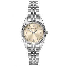 Sekonda Ladies Rose Gold Dial Crystal Bracelet Watch 2829