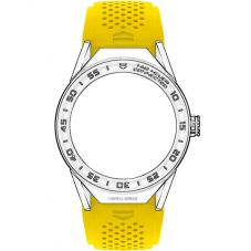 TAG Heuer Connected Yellow Rubber Watch Strap 1FT6082