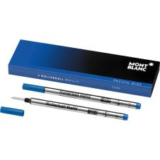 Montblanc 2x Rollerball Refills- Pacific Blue (Fine) 105163
