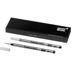 Montblanc 2x Fineliner Refills - Mystery Black (Broad) 105170