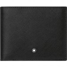 Montblanc Sartorial Black Leather Wallet 6cc 113215