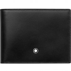 Montblanc Meisterstuck Black Leather Wallet 6cc 118292