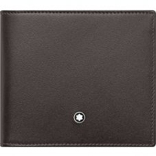 Montblanc Meisterstuck Brown Leather Wallet 4cc With Coin Case 118301