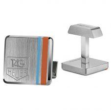 TAG Heuer Blue Orange Stripe Monaco Vintage Cufflinks R07CUF10