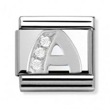 Nomination CLASSIC Silvershine Letter A Charm 330301/01