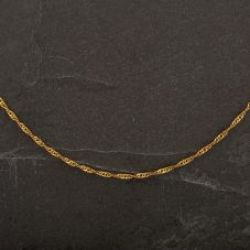 """Second Hand 9ct Yellow Gold 18"""" Twisted Curb Necklace"""