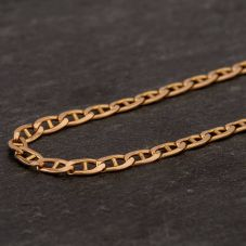 Second Hand 9ct Yellow Gold Fine Anchor Curb Chain Necklace