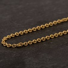 Second Hand 18ct Yellow Gold Fine Trace Chain Necklace