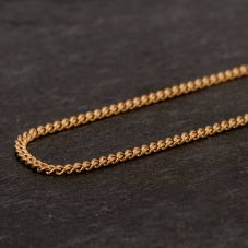 Second Hand 9ct Yellow Gold Fine Curb Chain Necklace