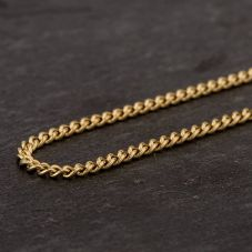 "Second Hand 9ct Yellow Gold 18"" Closed Curb Fine Chain Necklace"