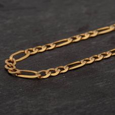 Second Hand 9ct Yellow Gold Figaro Chain Necklace